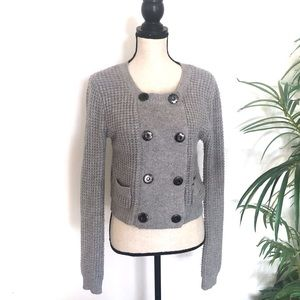 Anthropologie One Girl Who Gray Cardigan Sweater